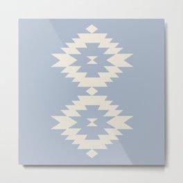 Southwestern Minimalism - Blue Metal Print