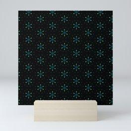 small star shapes pattern on the deep background Mini Art Print