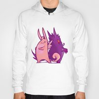 gengar Hoodies featuring Clefable and Gengar by Ida Dobnik