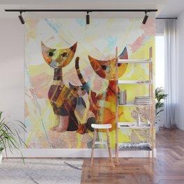 Familie Katze Wall Mural