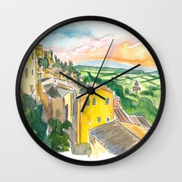 Montepulciano Italy View Of Tuscany Wall Clock