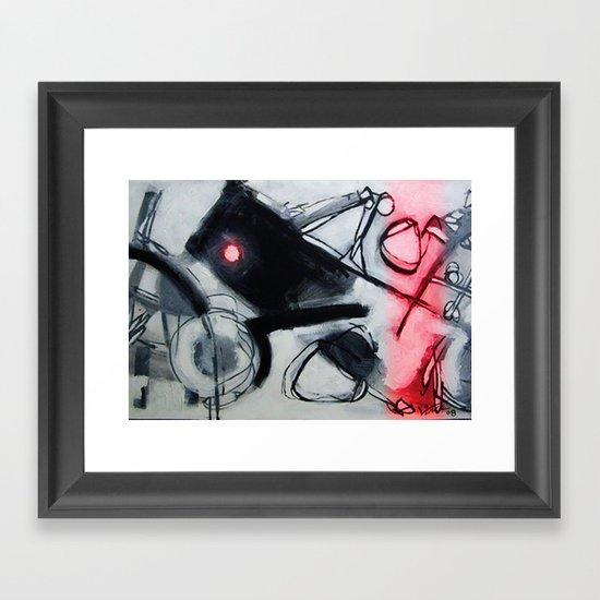 peak hour  Framed Art Print