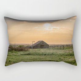 The Warmth of Summer - Old Rustic Barn in Evening Light in Oklahoma Rectangular Pillow