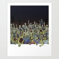 zombies Art Prints featuring Zombies!!! by Justin McElroy