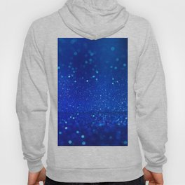 Abstract blue bokeh light background Hoody