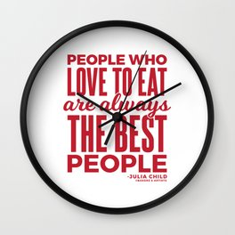 The Best People (Red) Wall Clock