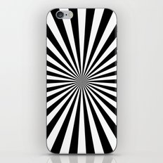 Starburst (Black/White) iPhone & iPod Skin