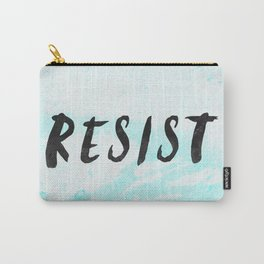 RESIST 5.0 - Black on Teal #resistance Carry-All Pouch