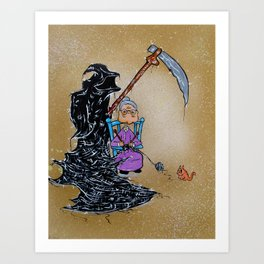 She Knitted Her Own Death Art Print