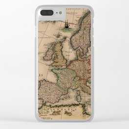 Antique Map Design Clear iPhone Case