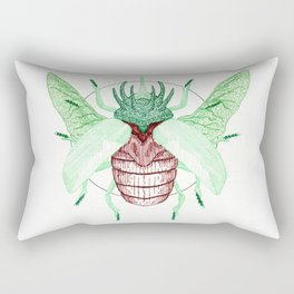 Thorned Atlas Beetle Rectangular Pillow