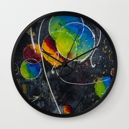Fire against ice Wall Clock