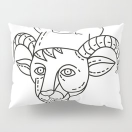 The Goat Chef Cook Baker Mono Line Pillow Sham