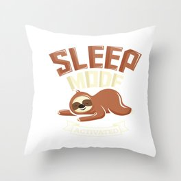 Sleep Mode Activated Cute Sloth Throw Pillow