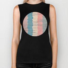 Colorful Grunge Stripes Biker Tank