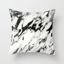 Classic White Marble Glam #1 #marble #decor #art #society6 Throw Pillow