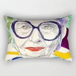 Iris Apfel Fanart Rectangular Pillow