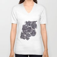zentangle V-neck T-shirts featuring Zentangle; by Shivani C