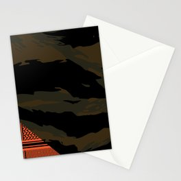 Brown Tiger Camouflage Stationery Cards