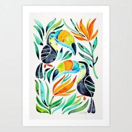 Tropical Toucans Art Print