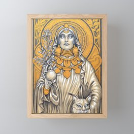 Lady of Baza- Dama de Baza Framed Mini Art Print