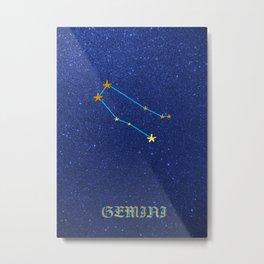 Constellations - GEMINI Metal Print
