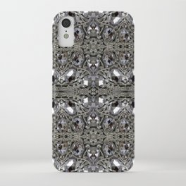 girly chic glitter sparkle rhinestone silver crystal iPhone Case