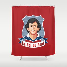 Le Roi du foot Shower Curtain