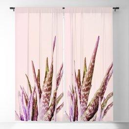 Duotone Aloe Vera on pastel Coral Blackout Curtain