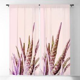 Duotone Aloe Vera on pastel Coral Blackout Curtain