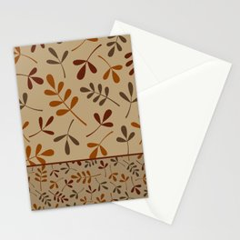 Fall Color Assorted Leaf Silhouettes II Stationery Cards