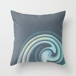 Rolling Wave Throw Pillow