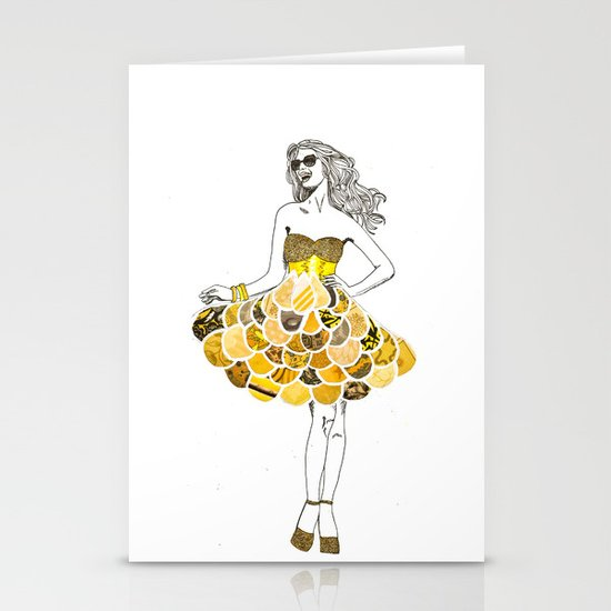 The Yellow Dress Stationery Cards