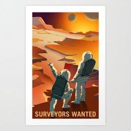 NASA Mars Recruitment Poster - Surveyors Wanted Art Print
