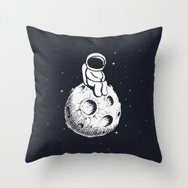 Sit Astronaut Throw Pillow