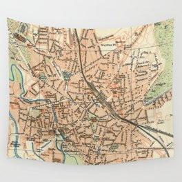 Vintage Map of Hanover Germany (1895) Wall Tapestry