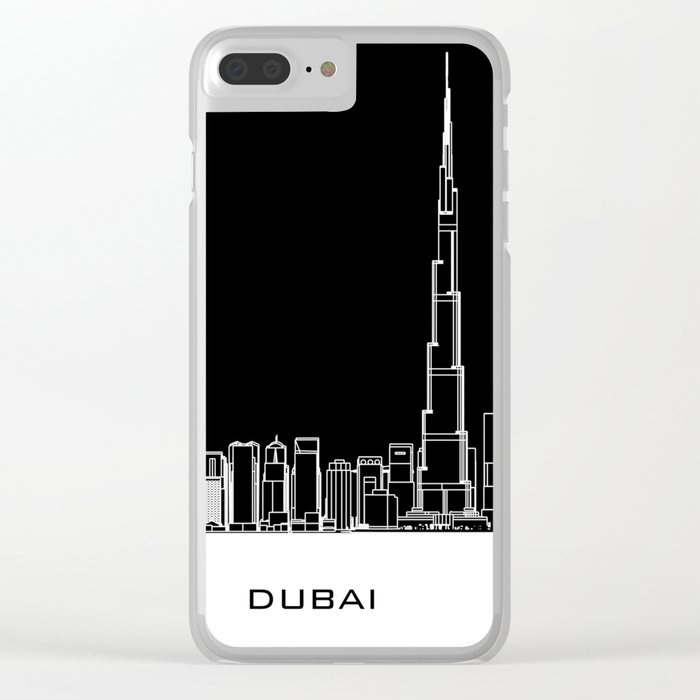 Dubai Skyline - Black Base Clear iPhone Case