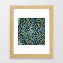 Classic Peacock Feather Kaleidoscope  Framed Art Print
