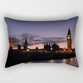 London at Night Rectangular Pillow