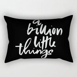A billion little things Rectangular Pillow