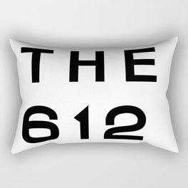 612 Minnesota Area Code Typography Rectangular Pillow