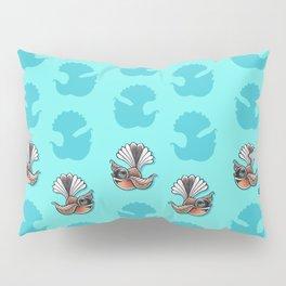 Fantail - Aqua Pillow Sham
