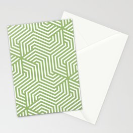 Olivine - green - Minimal Vector Seamless Pattern Stationery Cards