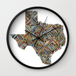 Map of Texas Wall Clock