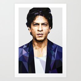 Shahrukh khan Poster low poly Art Print