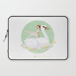 Summer Pool Party - White Swan Float F Laptop Sleeve