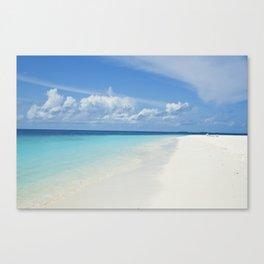 The Maldives' Blue Canvas Print