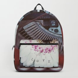 Message of Love Typewriter Backpack