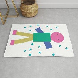 Human figure, geometry minimalism character for kids Rug