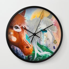 You and me - Horses - Animal - by LiliFlore Wall Clock